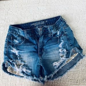 American Eagle Hi Rise Ripped (2) Vintage …